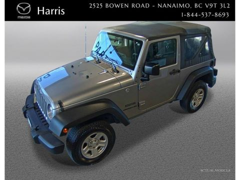 Certified Pre-Owned 2017 Jeep Wrangler Manual Trans 4x4 the true back woods beast
